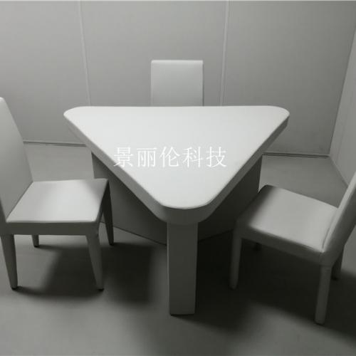 纪检委三角桌 软包防撞桌椅