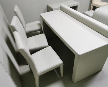 询问室软包桌椅厂家定制